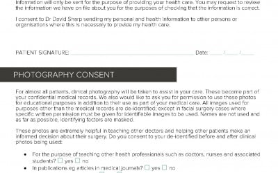 Dr DAvid Sharp plastic surgery registration form p2