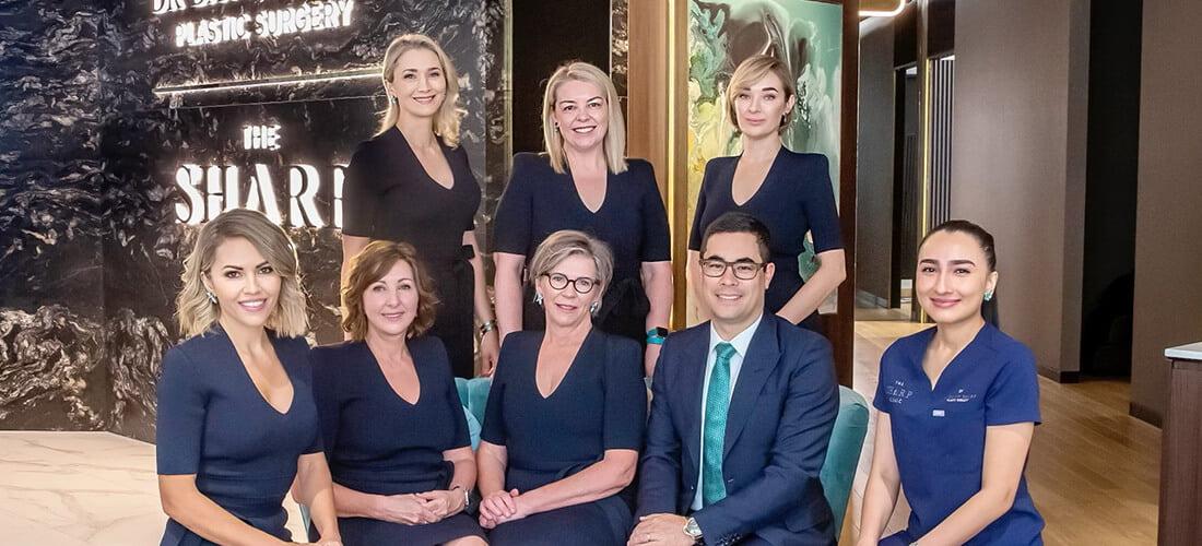 Dr David Sharp team photo plastic surgeon