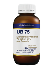 UB75 bioceuticals probiotic stockist