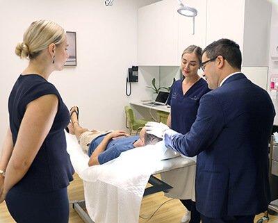 Nurse training with Dr Sharp Plastic Surgeon
